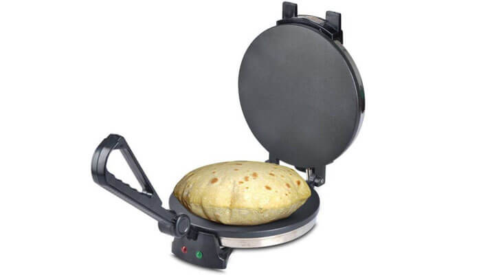 How does a roti maker work